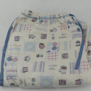 Other - Womens Coffee Comfy Pants Cotton Sz M Sleepwear